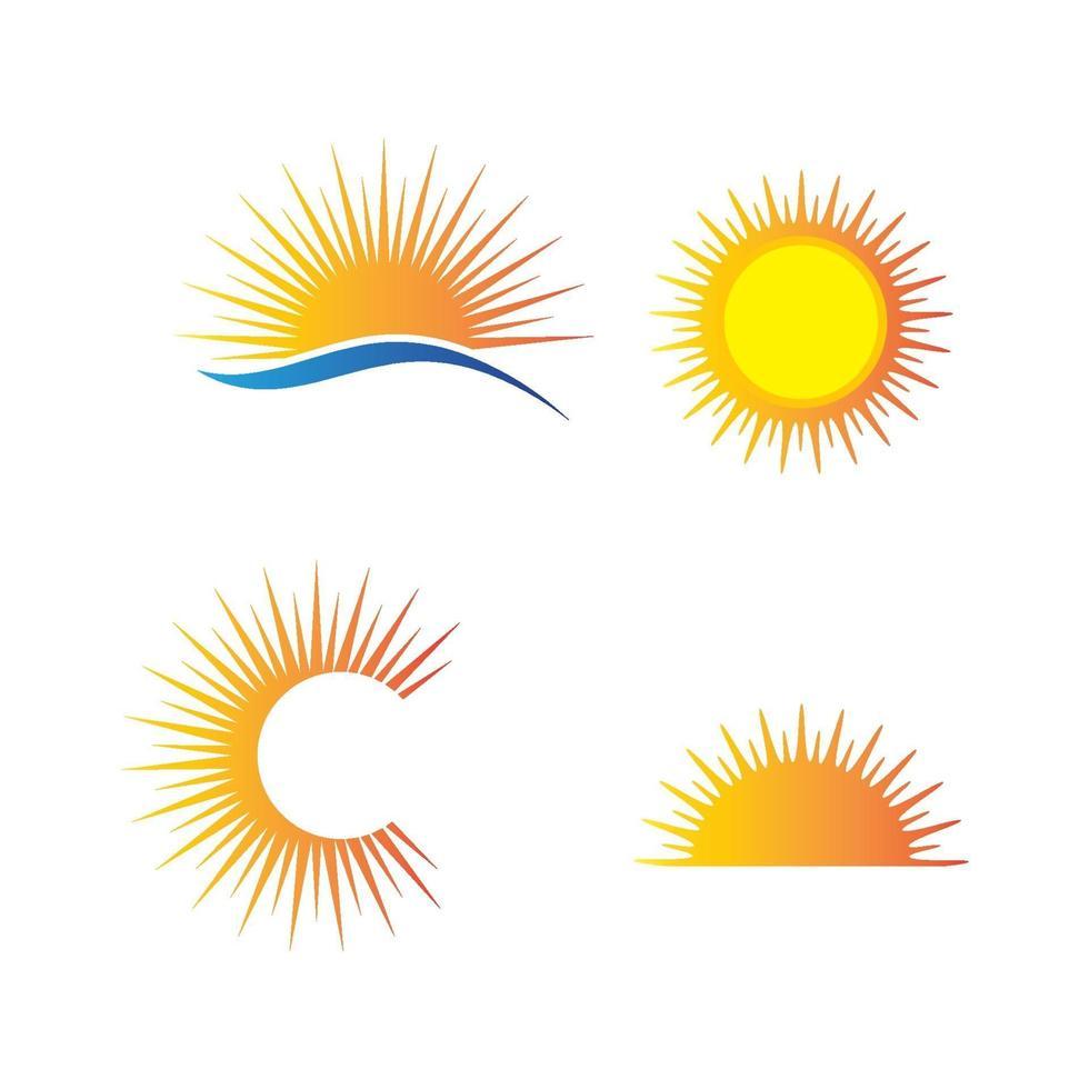 images de logo coucher de soleil vecteur