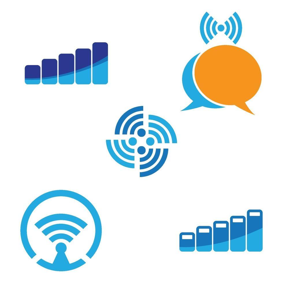 illustration d'images logo wireles vecteur