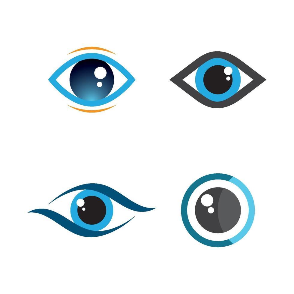 images de logo de soins oculaires vecteur