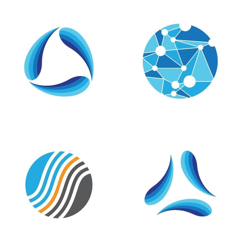 illustration d'images abstraites logo vecteur