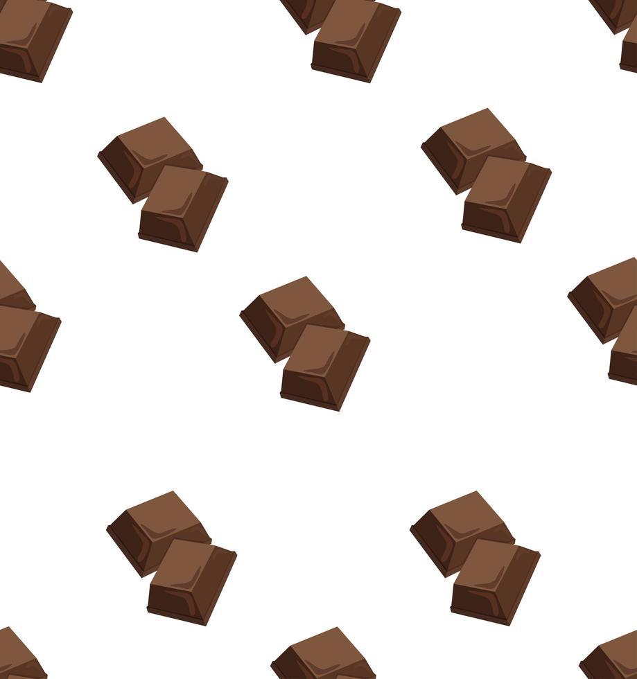 modèle sans couture de deux pièces de chocolat au lait vecteur