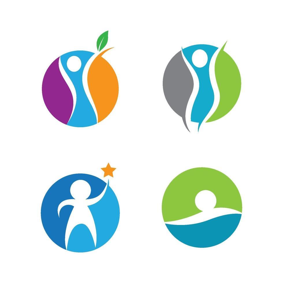 conception d'images de logo de bien-être vecteur