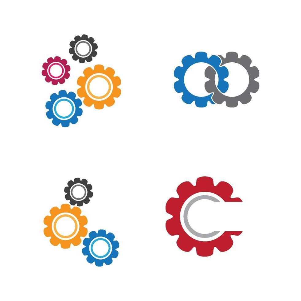 images de logo d'engrenage vecteur
