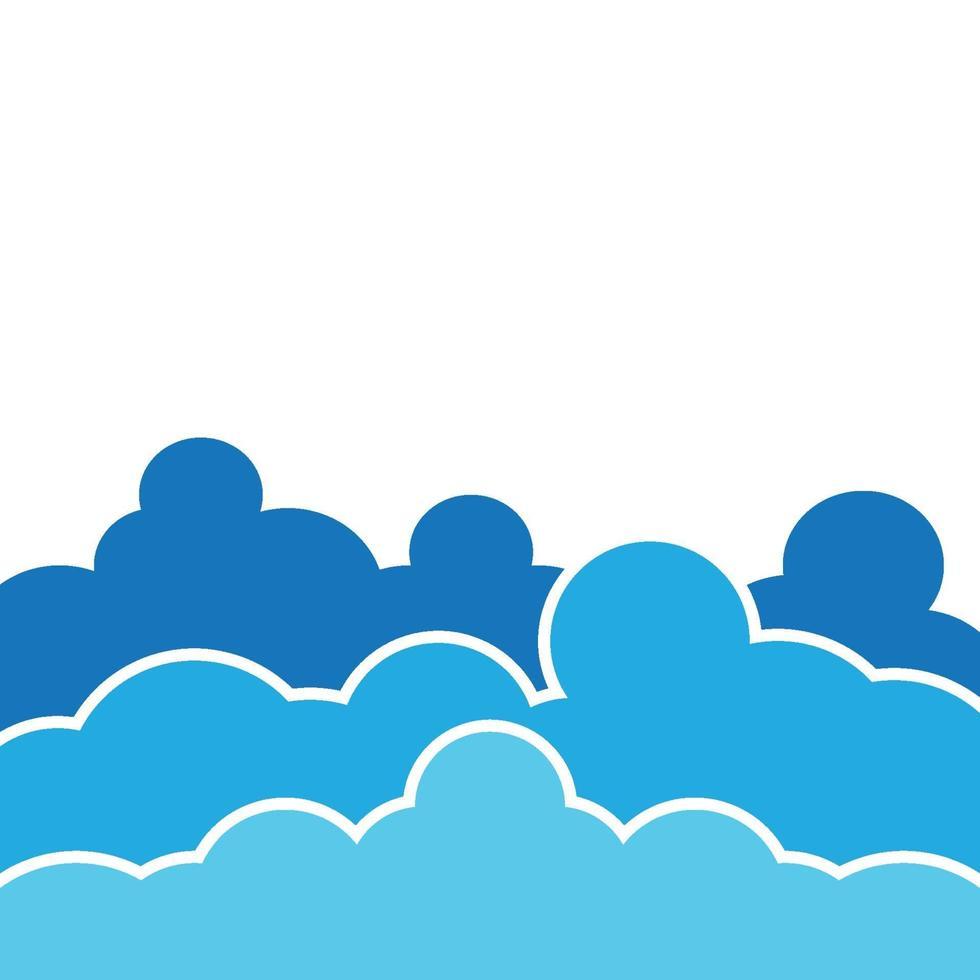 illustration des images de fond de nuage vecteur