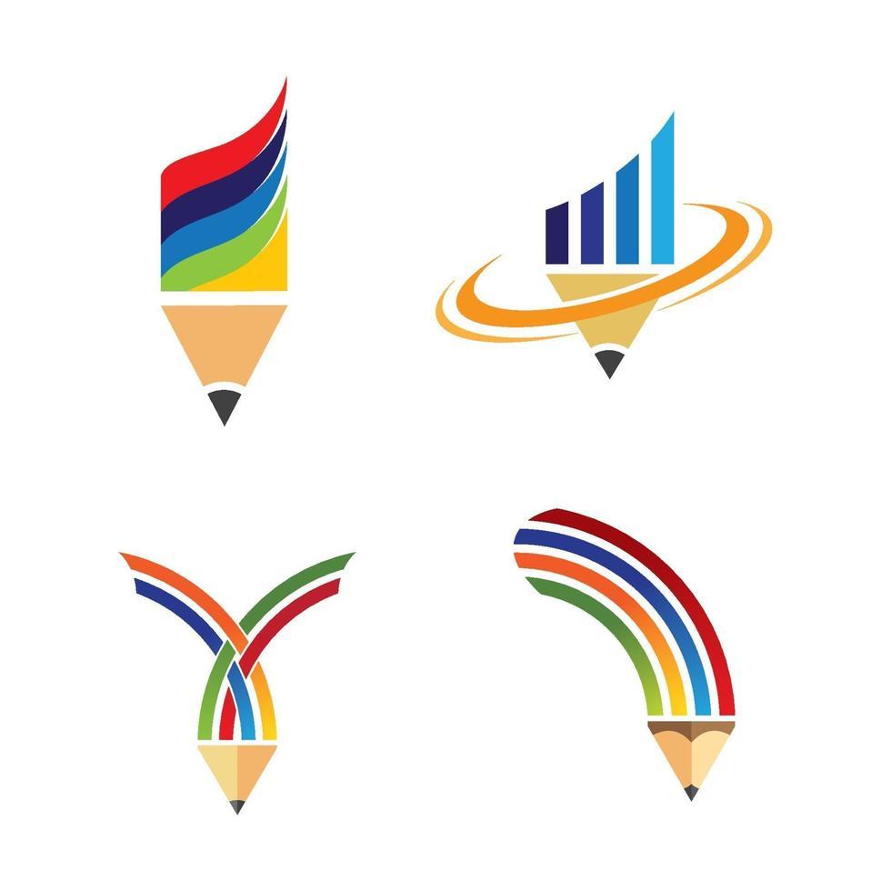images de logo de crayon vecteur