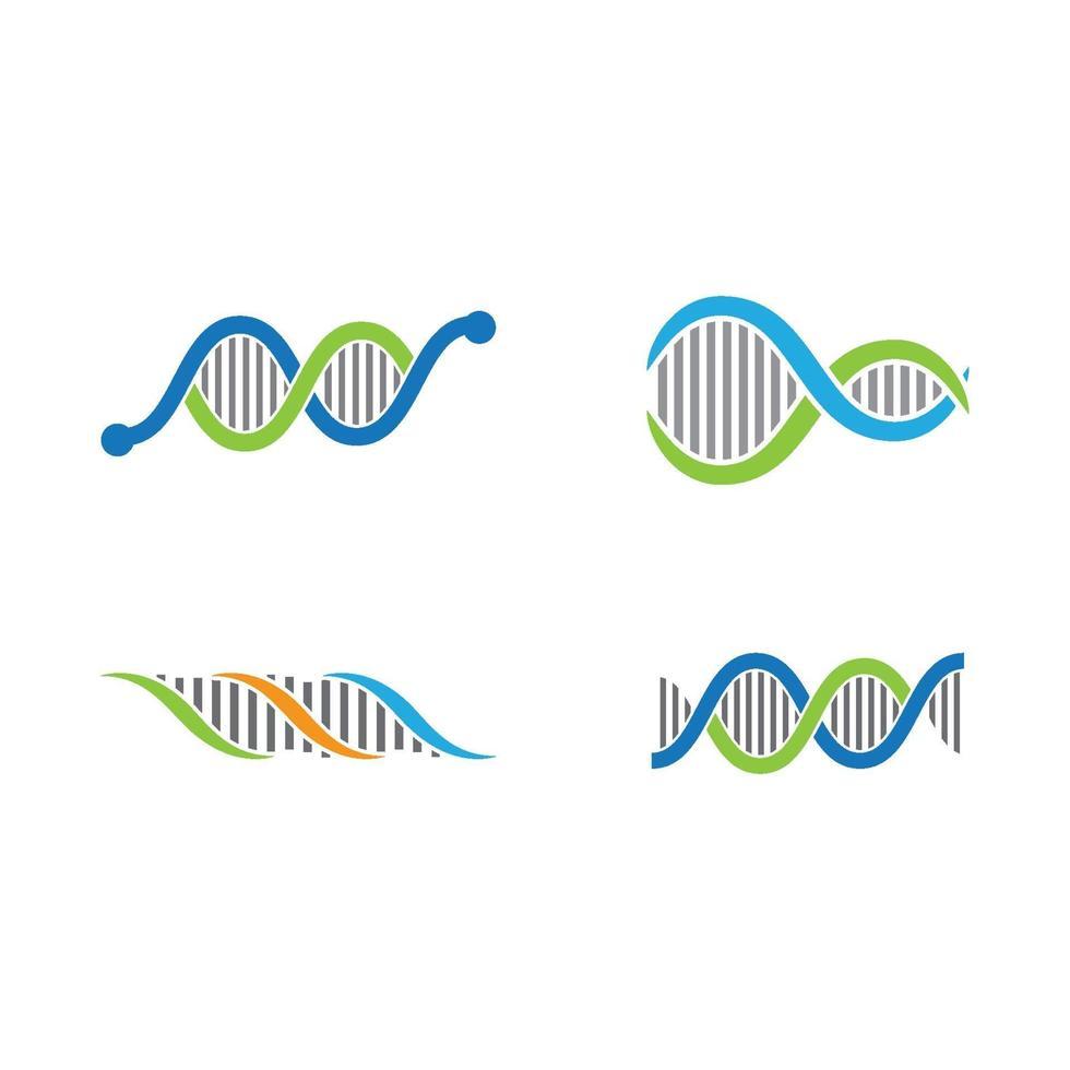 illustration d'images logo ADN vecteur