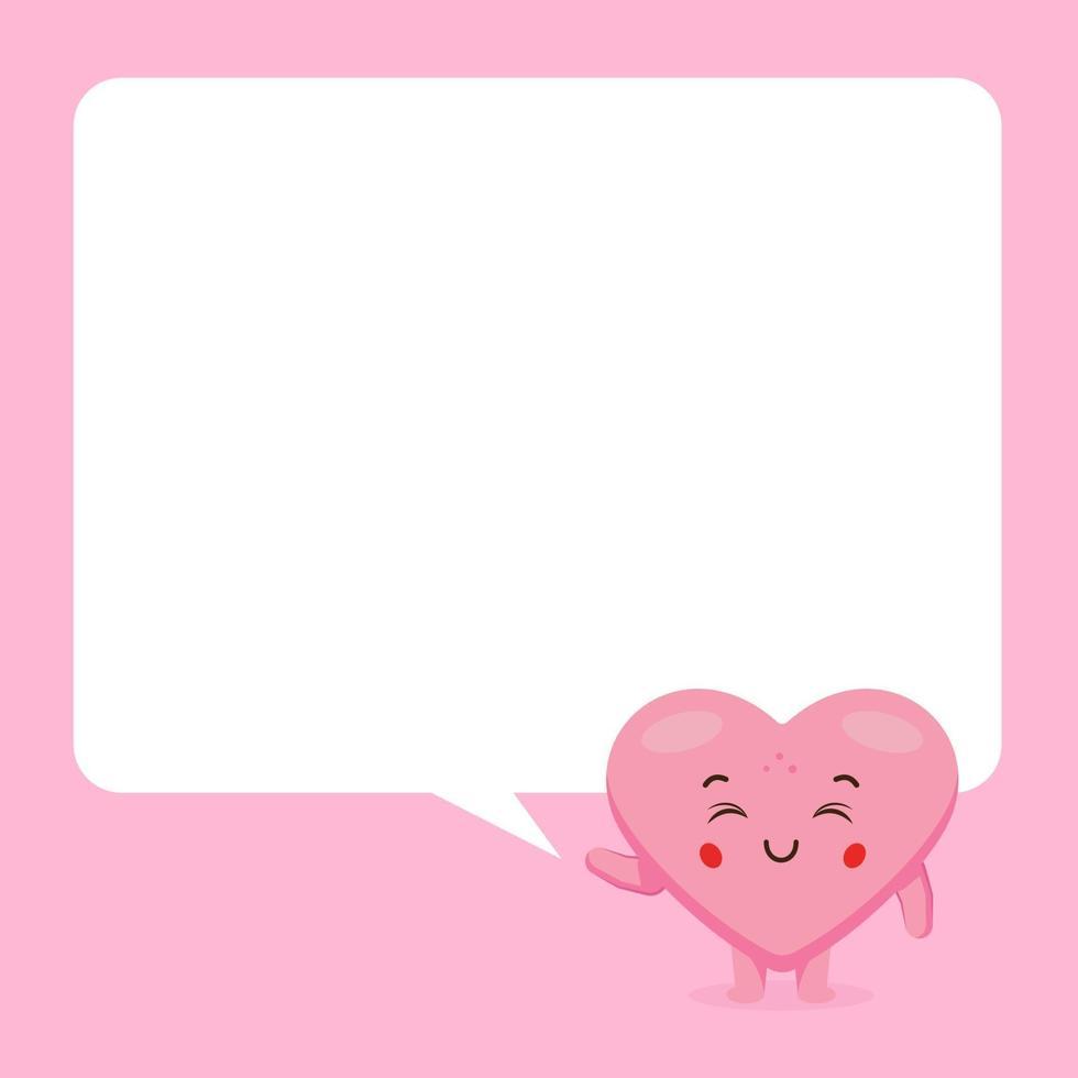 amour mignon avec bulle de dialogue vecteur