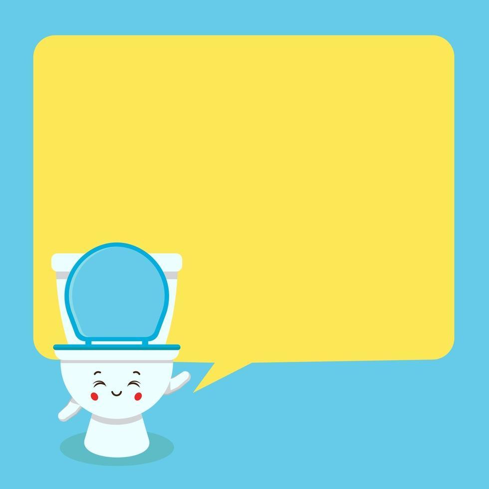 toilette mignonne avec bulle de dialogue vecteur