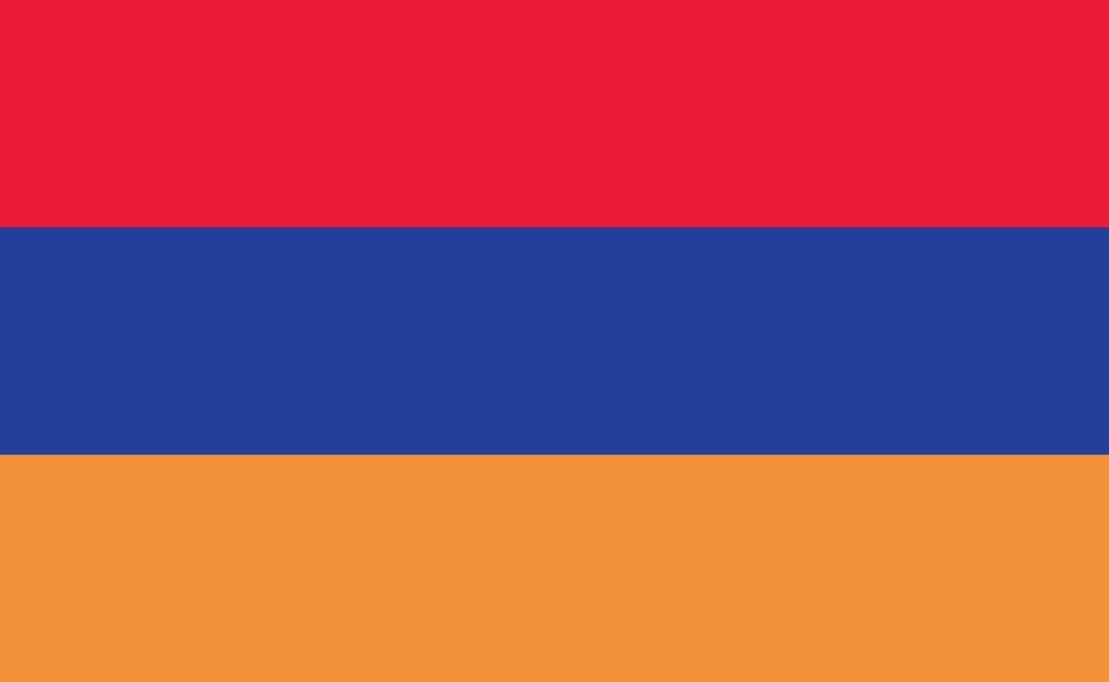 drapeau national arménie dans des proportions exactes - illustration vectorielle vecteur