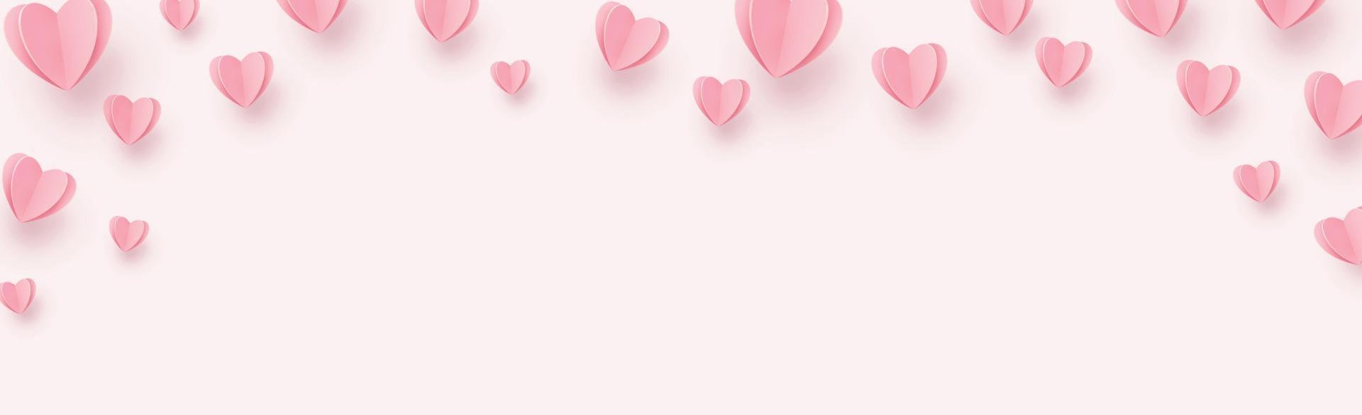 doux coeurs rose-rouge sur fond rose vecteur