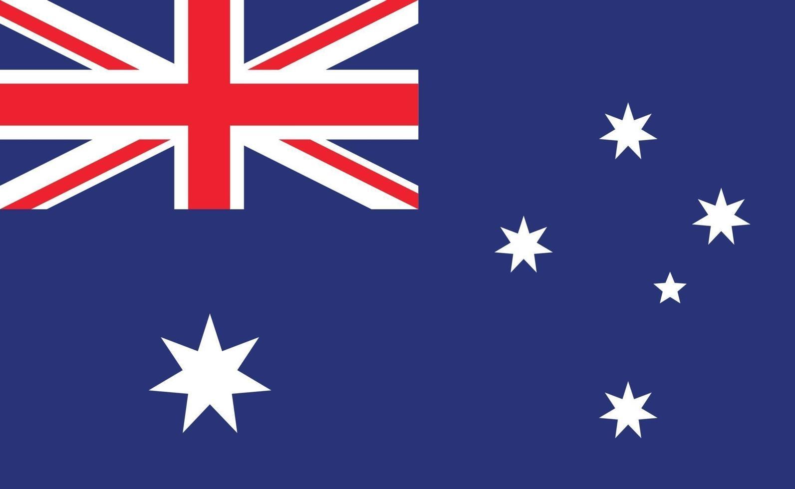 drapeau national australien dans des proportions exactes - illustration vectorielle vecteur