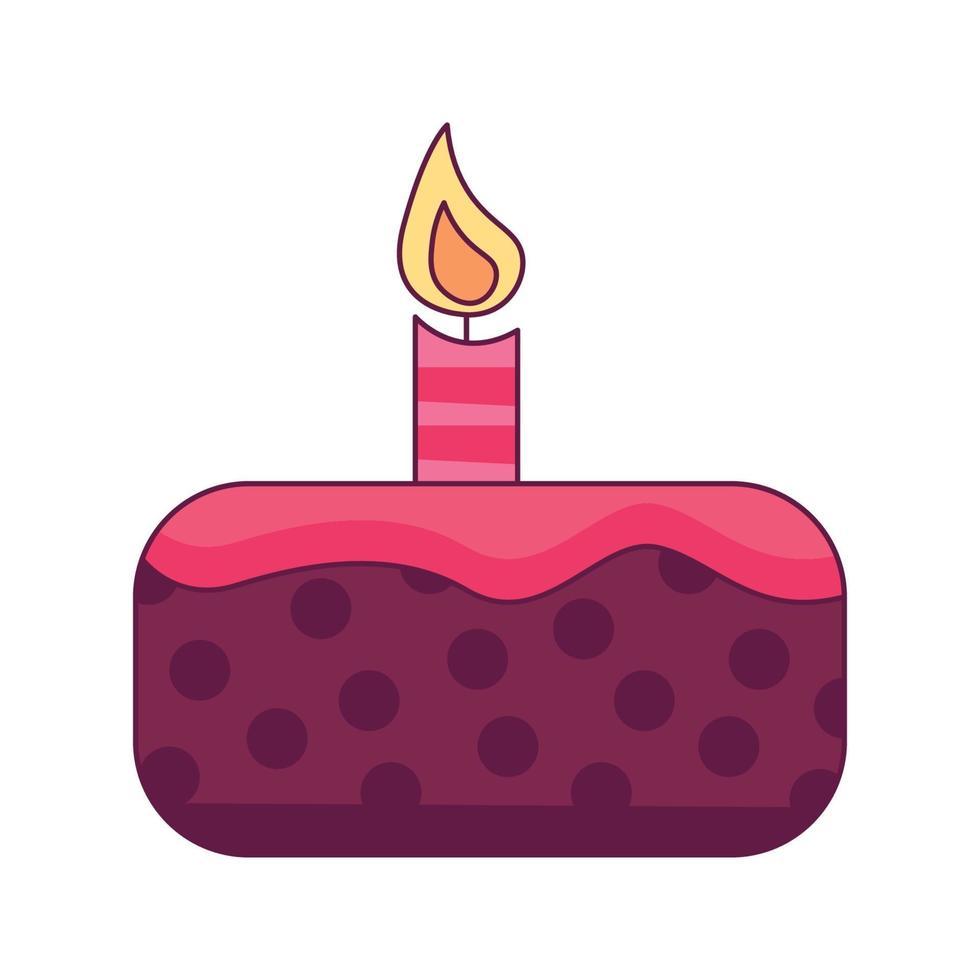 gâteau danniversaire dessin animé doodle illustration vectorielle de concept dessiné à la main kawaii vecteur