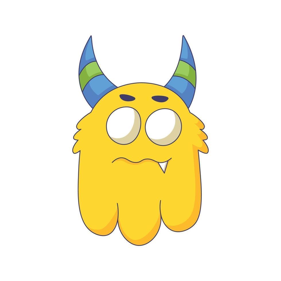 dessin animé mignon monstre doodle dessiné à la main concept design vector art illustration kawaii.