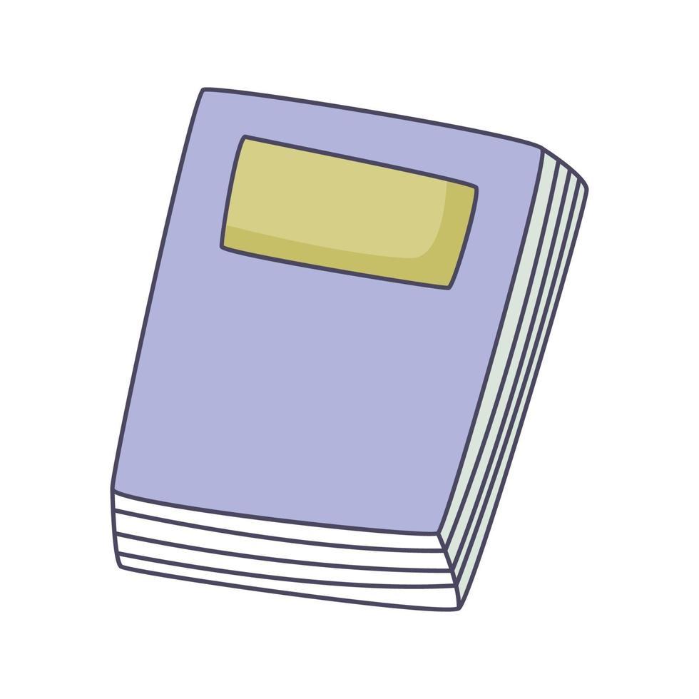 livre dessin animé doodle illustration vectorielle kawaii concept dessiné à la main vecteur