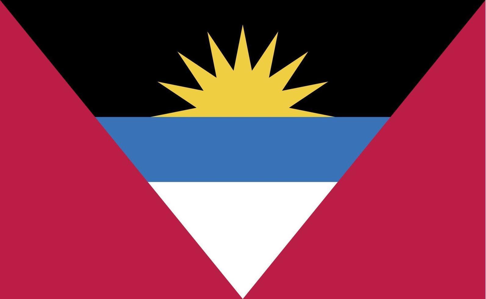 drapeau national antigua-et-barbuda dans des proportions exactes - illustration vectorielle vecteur