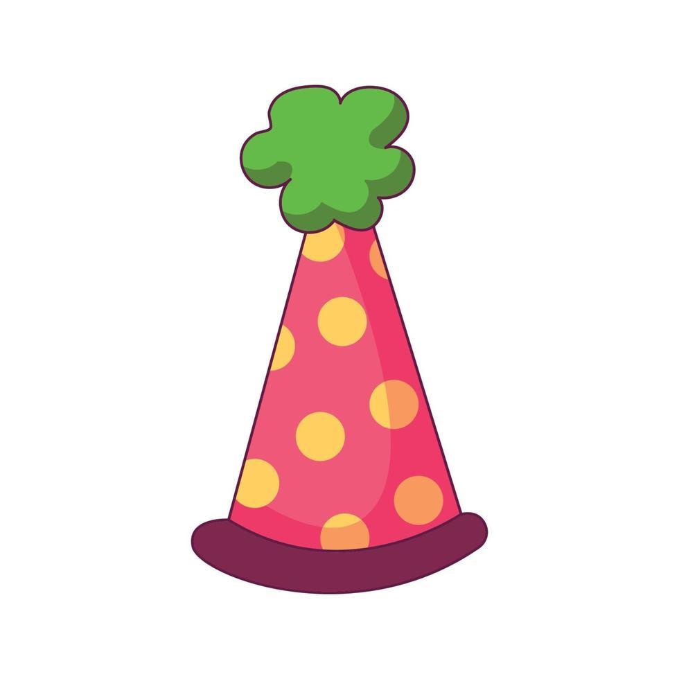 anniversaire chapeau dessin animé doodle illustration vectorielle de concept dessiné vecteur