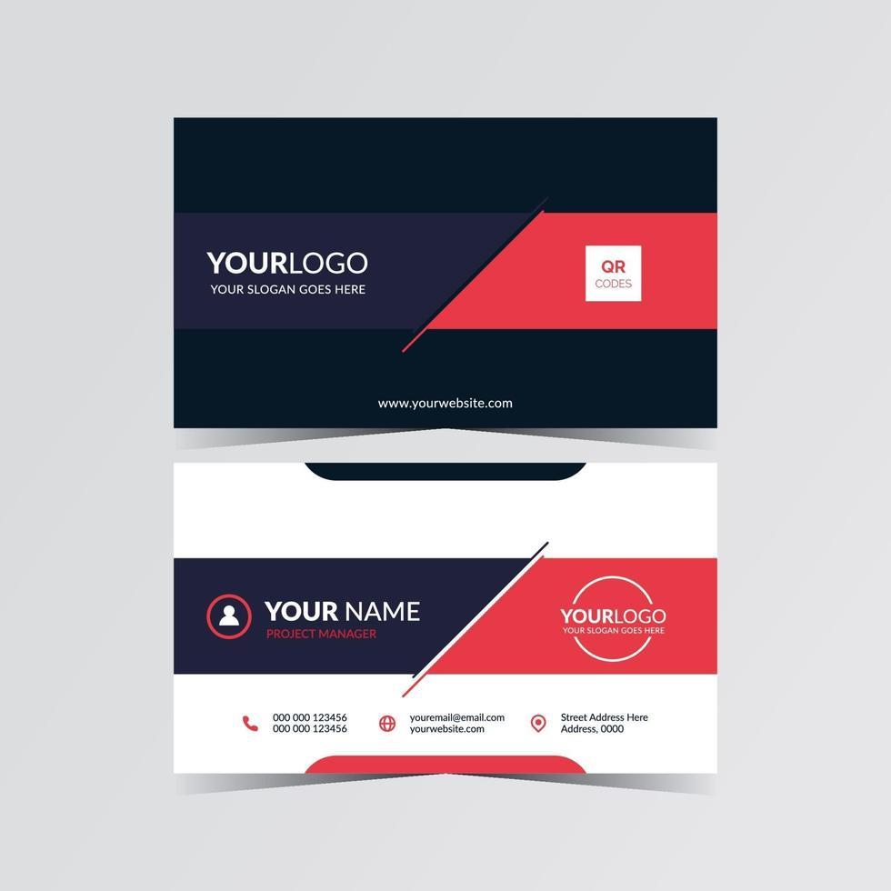 modèle de carte de visite de conception de mise en page vecteur
