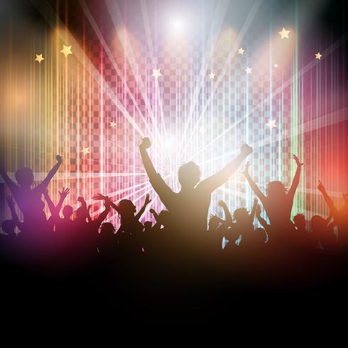 Fond de foule disco vecteur