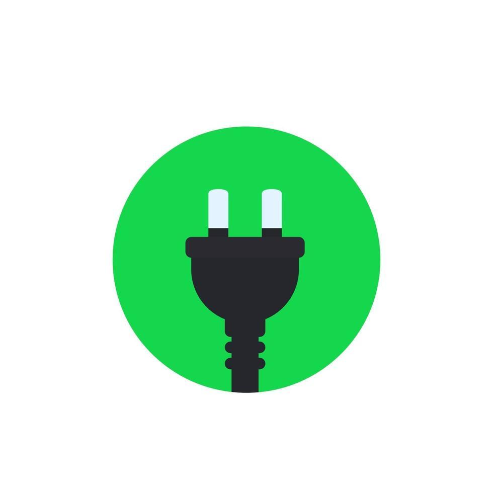 prise électrique avec deux broches, vector icon.eps