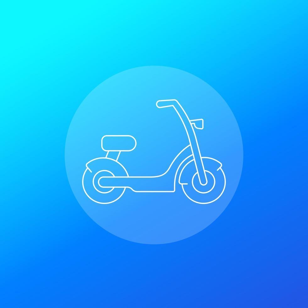 vélo électrique, icône de scooter, linear.eps vecteur