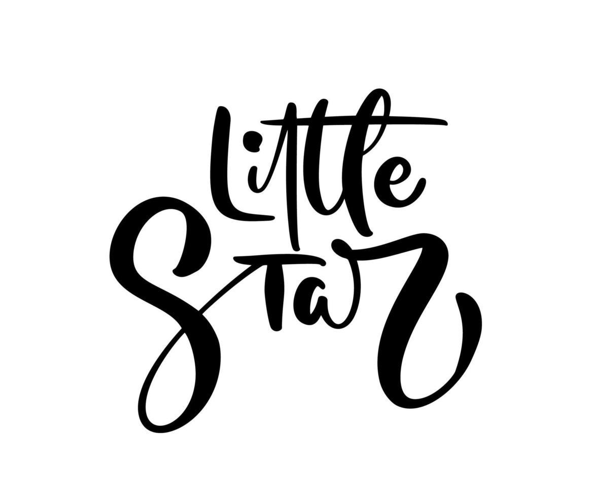 petite étoile vecteur calligraphie lettrage texte bébé. lettrage de stylo moderne et pinceau dessiné à la main isolé sur fond blanc. conception de cartes de voeux, invitations, impression, t-shirts, décoration intérieure