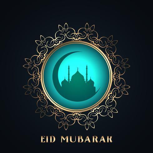 Fond d'Eid Mubarak vecteur