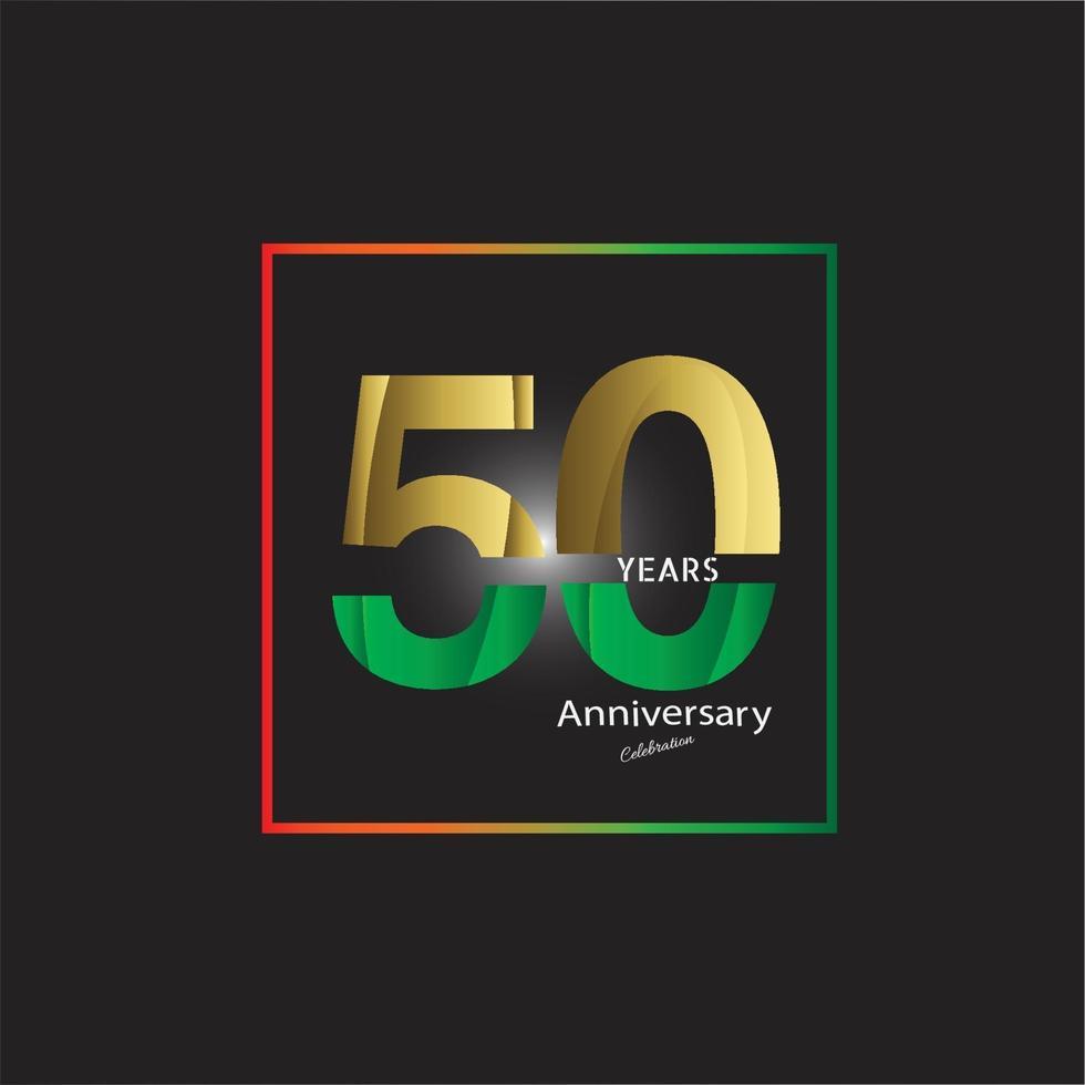 logo de célébration anniversaire doré ans, isolé sur fond noir vecteur