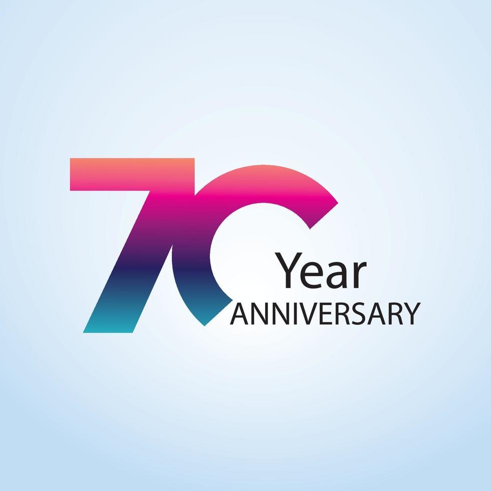 illustration de conception de modèle de vecteur anniversaire logo anniversaire