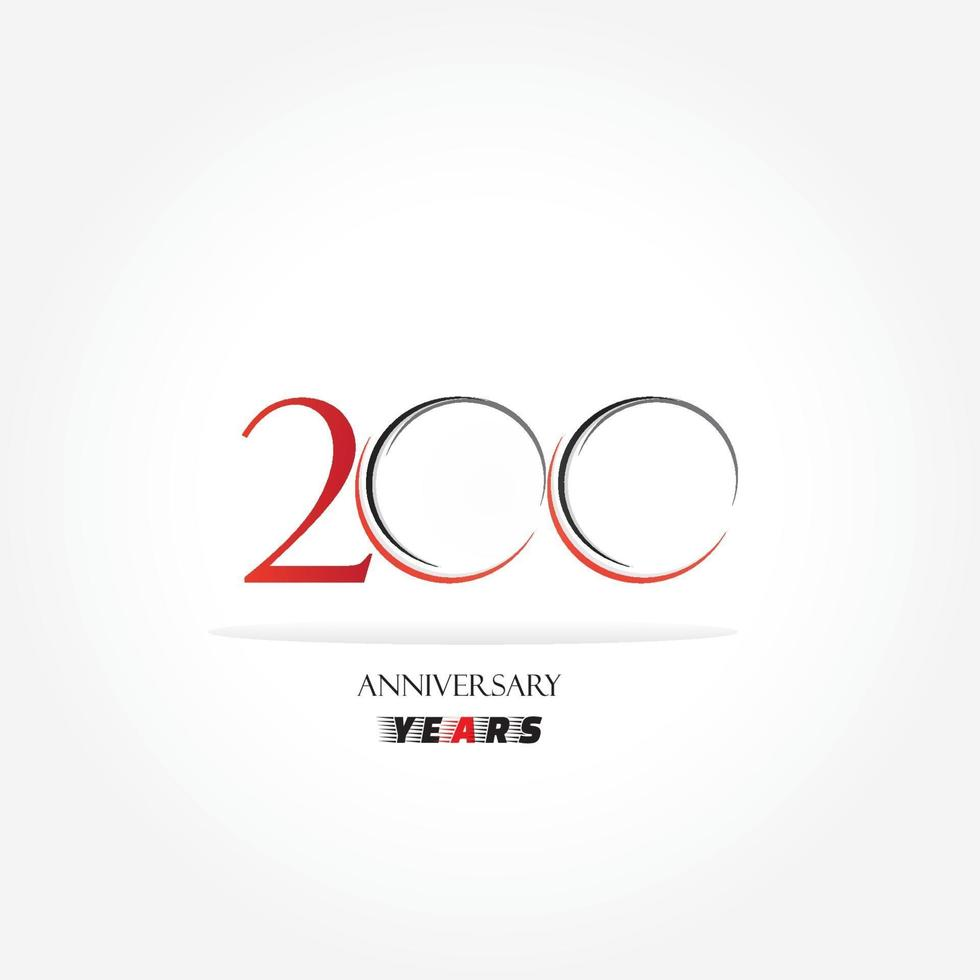 anniversaire lié logotype avec couleur rouge isolé sur fond blanc pour l'événement de célébration de l'entreprise vecteur