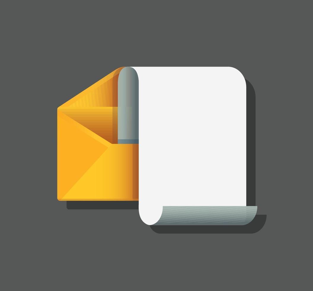 enveloppe avec carte de papier à lettres. concept de message électronique. illustration vectorielle vecteur