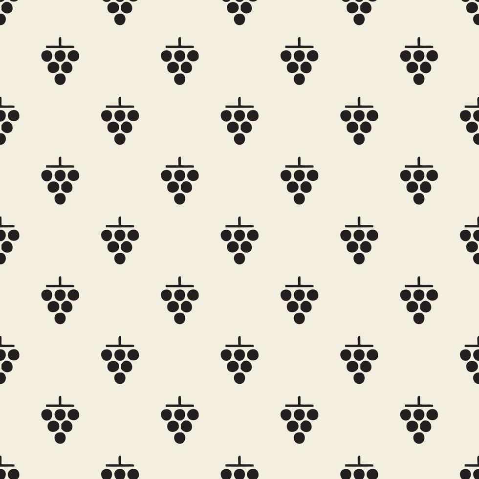 motif de timbre de raisin monochrome sans soudure de fond vecteur