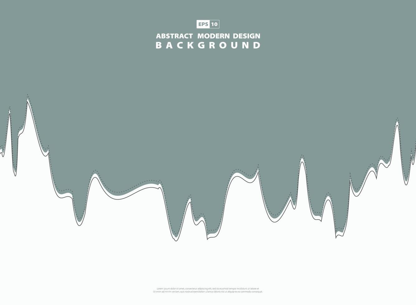 ligne de vague verte moderne abstraite de fond de contraste. illustration vectorielle vecteur