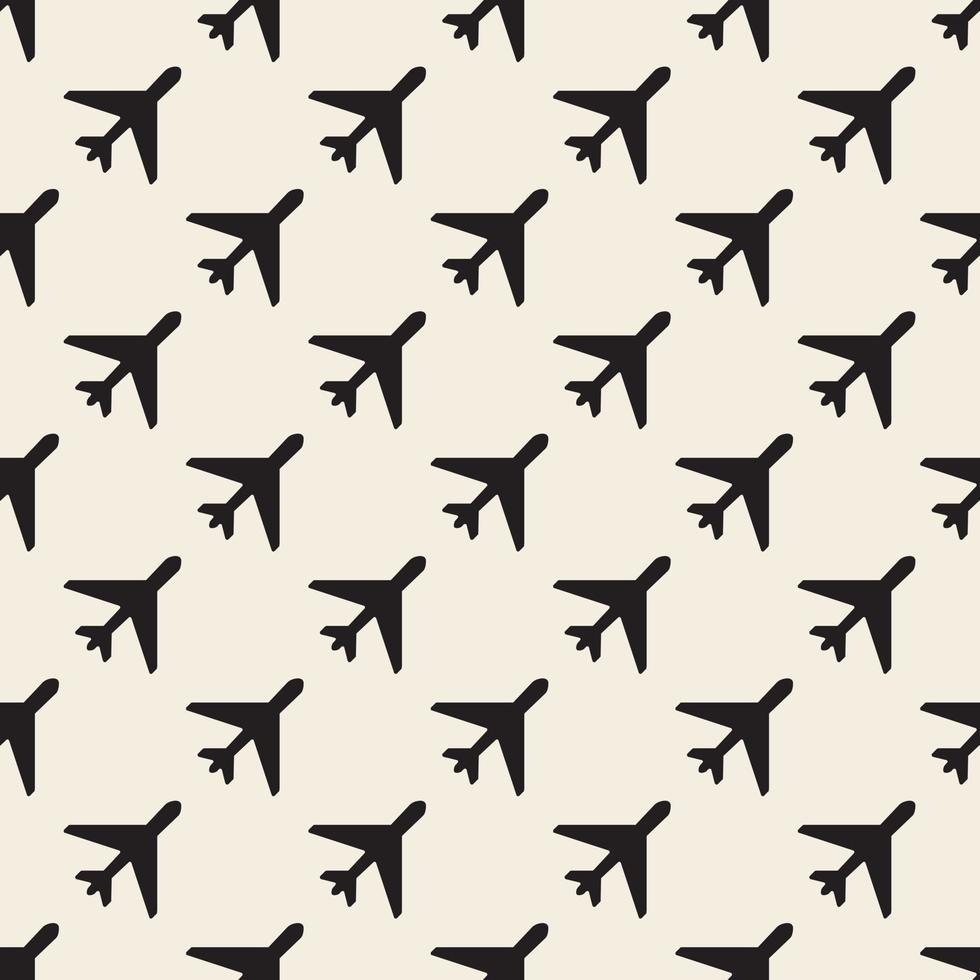motif de timbre avion monochrome transparente vecteur