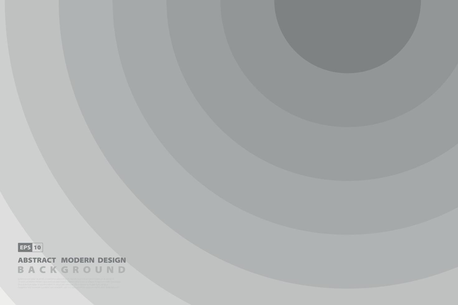 conception de modèle abstrait cercle blanc et gris de fond décoratif minimal. illustration vectorielle vecteur