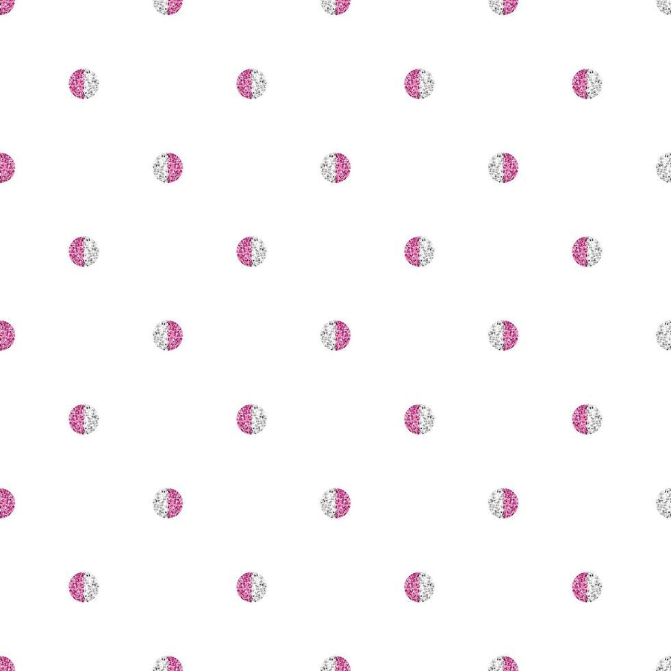 fond de motif géométrique simple sans soudure avec forme de point de paillettes à deux tons vecteur