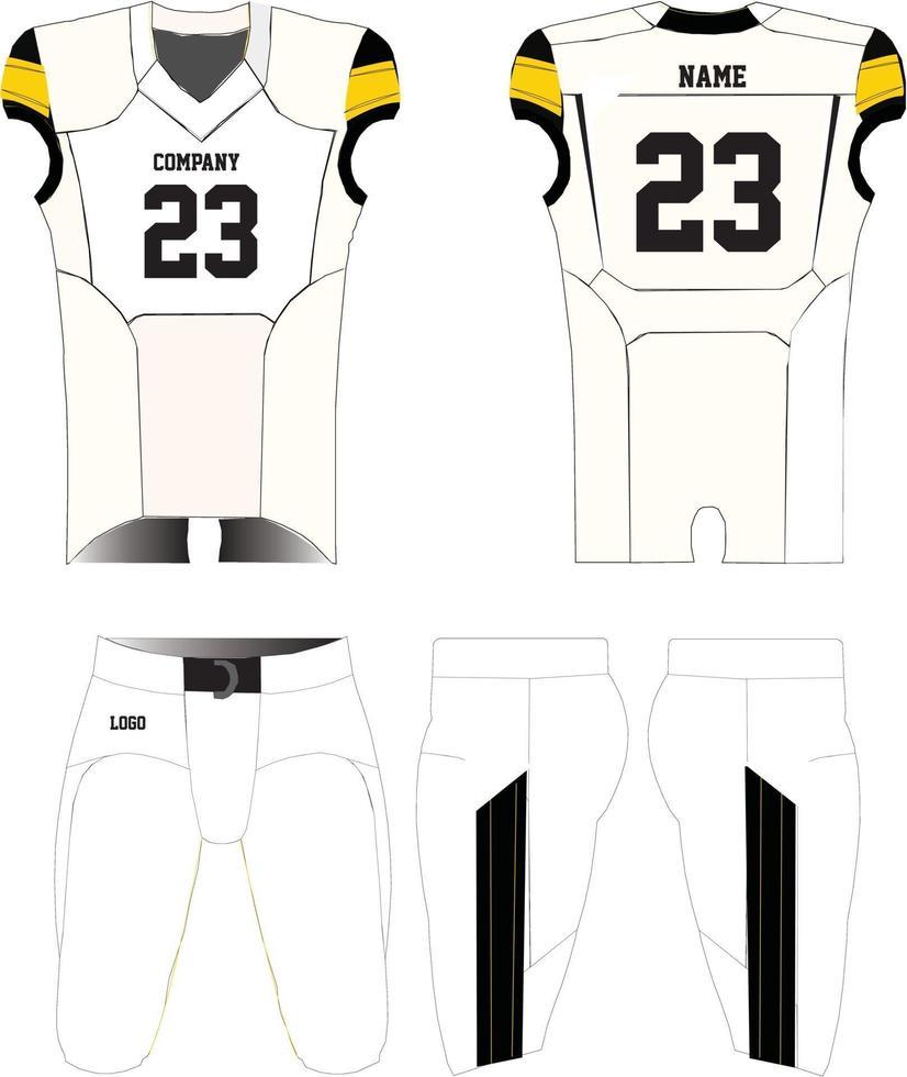 conception de maquettes uniformes de maillot de football américain vecteur