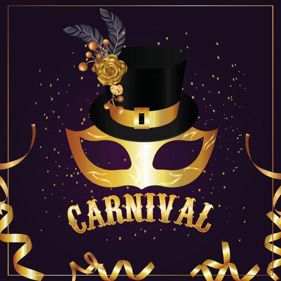 voeux de fête de carnaval vecteur