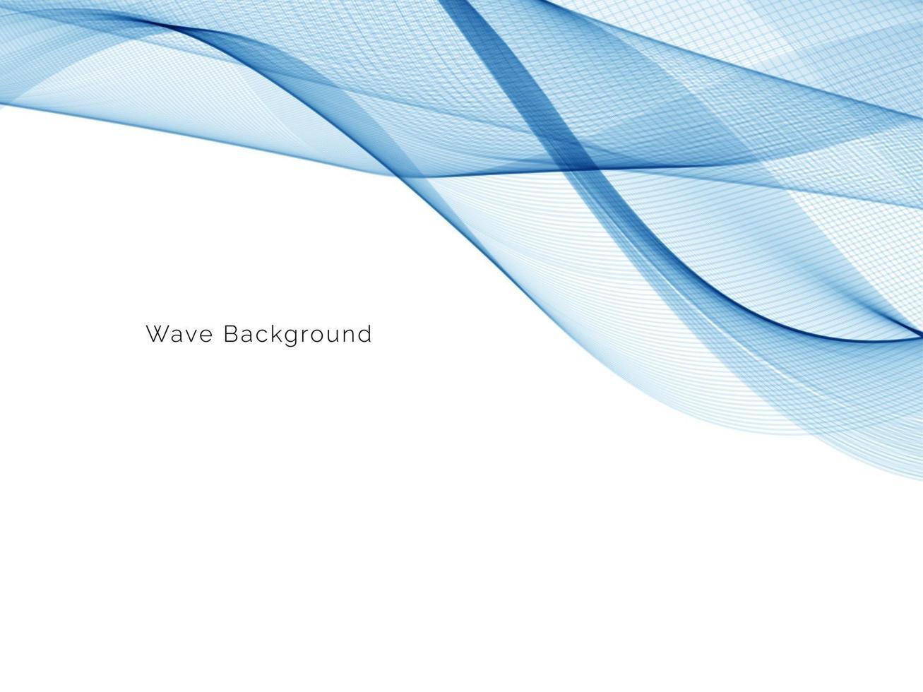 conception de vague bleue qui coule fond élégant vecteur