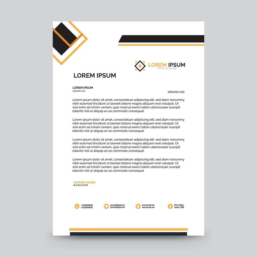 papier à en-tête d'entreprise moderne vecteur