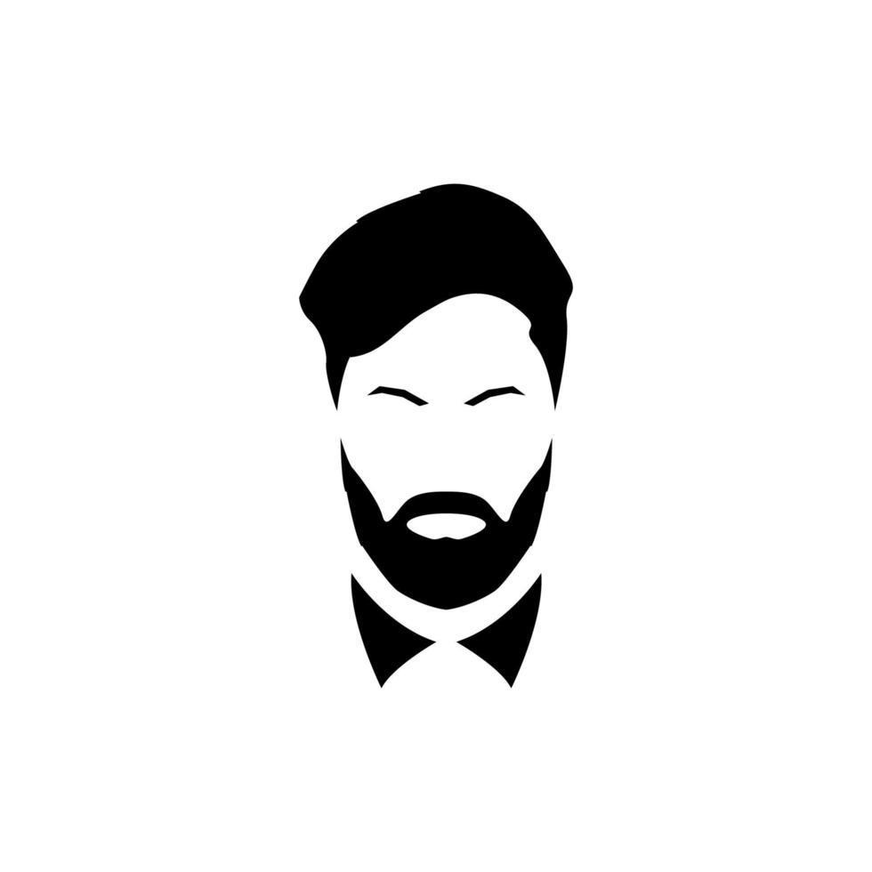 avatar d'un gentleman avec une barbe et une moustache. vecteur