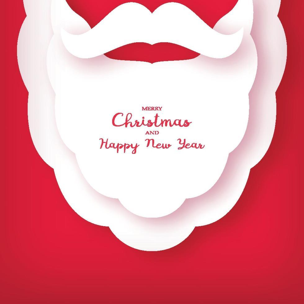 origami de la barbe et de la moustache du père noël. carte de Noël. nouvelle année. vecteur