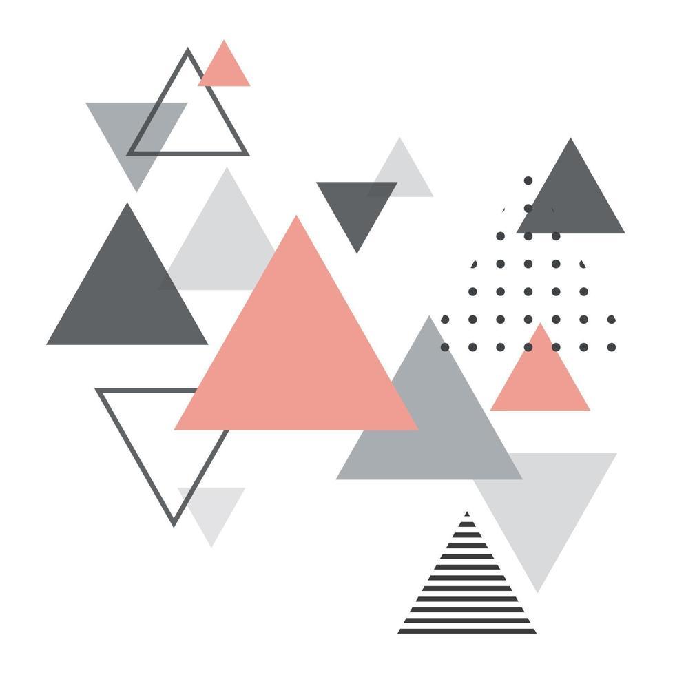 abstrait géométrique scandinave. affiche de conception abstraite moderne et élégante, couverture, conception de cartes. vecteur