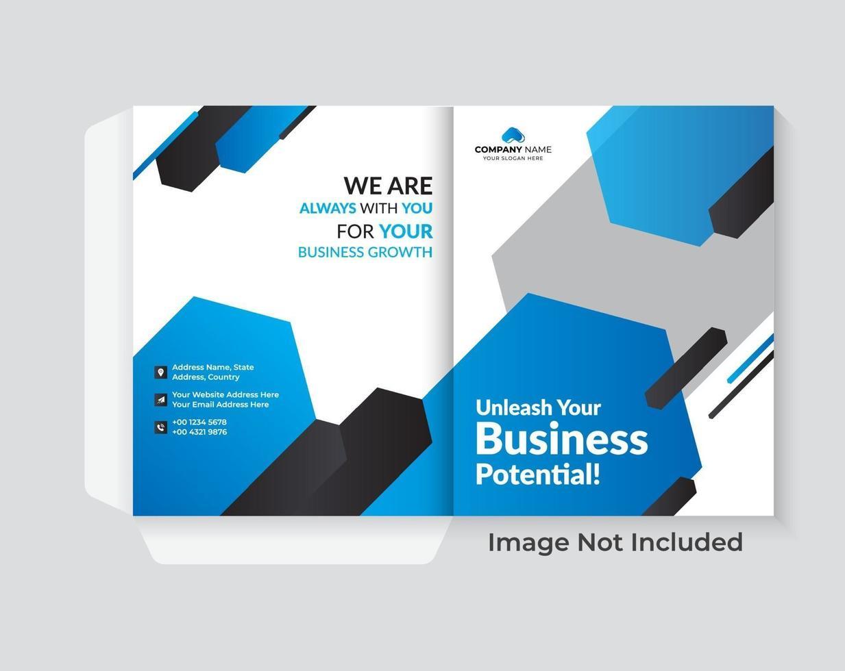couverture de conception de dossier pour la mise en page de brochures de catalogue vecteur