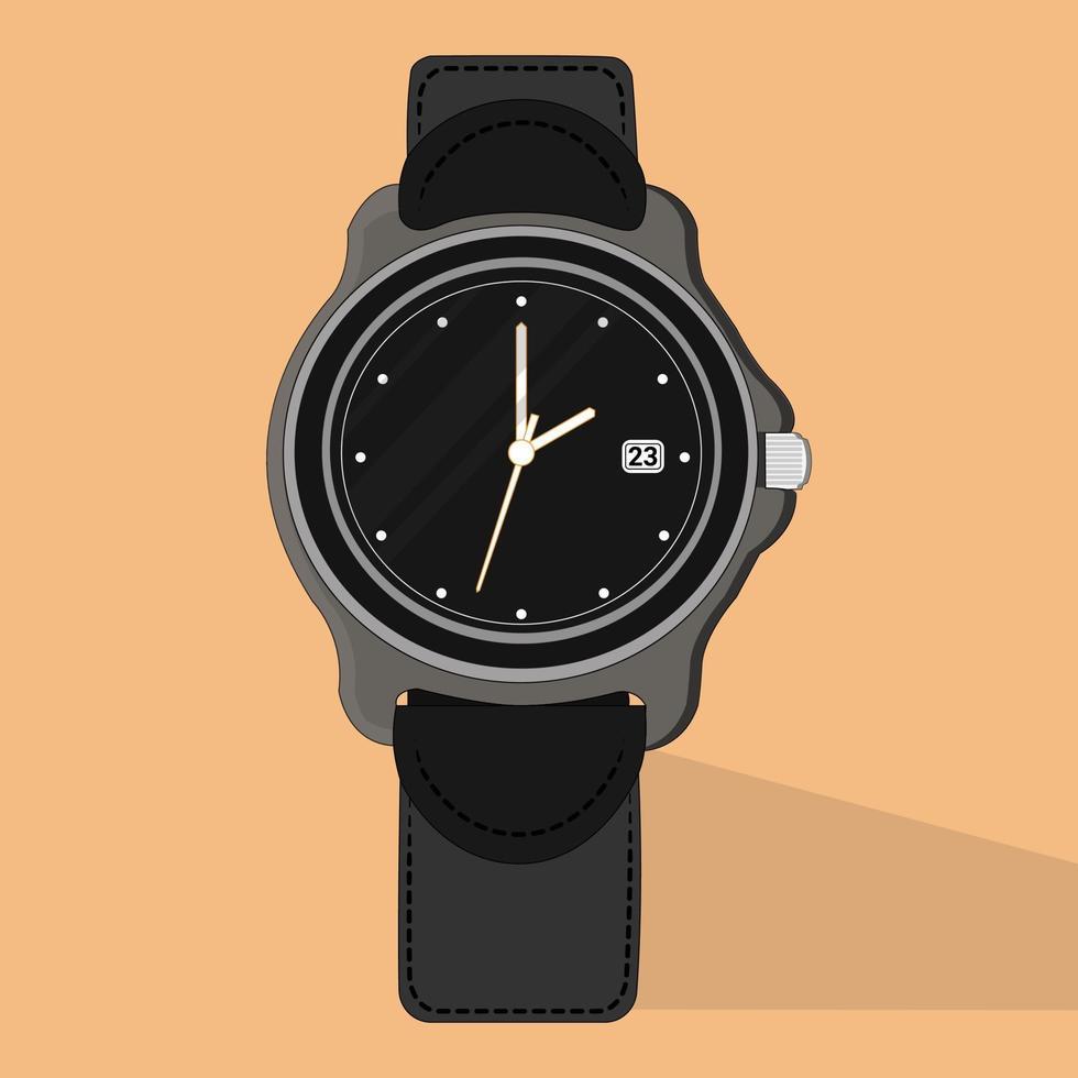 montre-bracelet de vecteur, parfaite pour le projet de conception vecteur