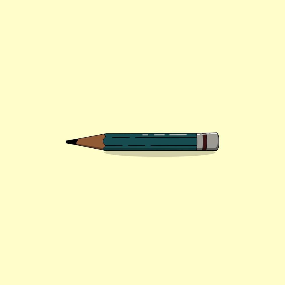 crayon minimaliste plat de vecteur, parfait pour le projet de conception vecteur