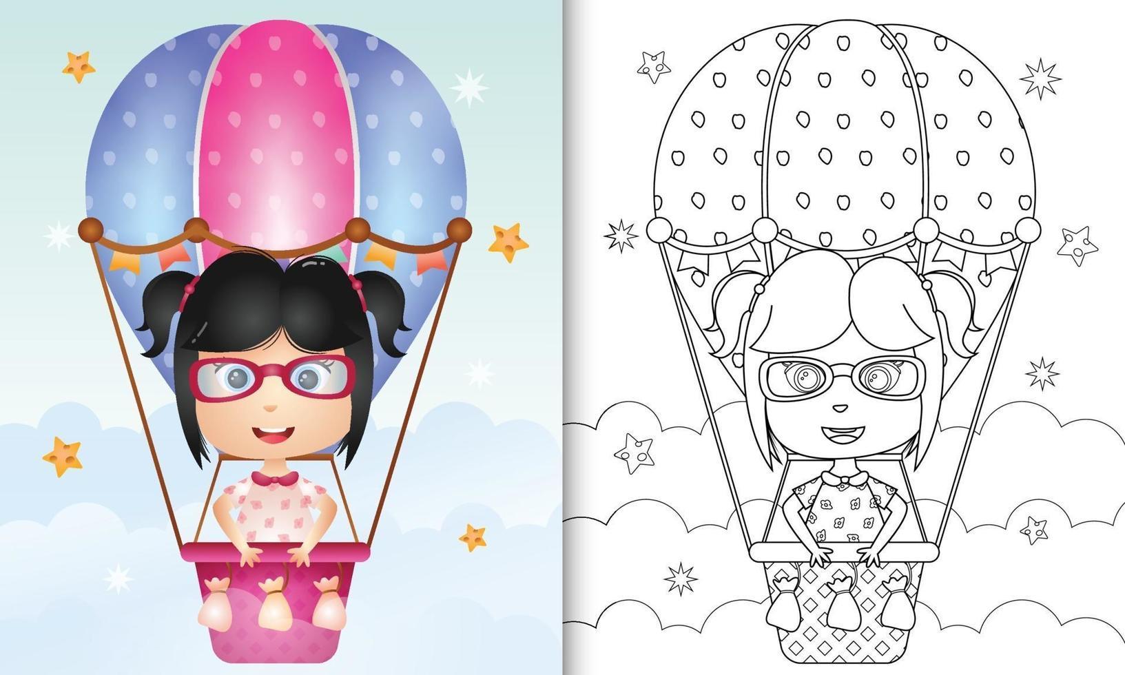 livre de coloriage pour les enfants avec une jolie fille sur ...