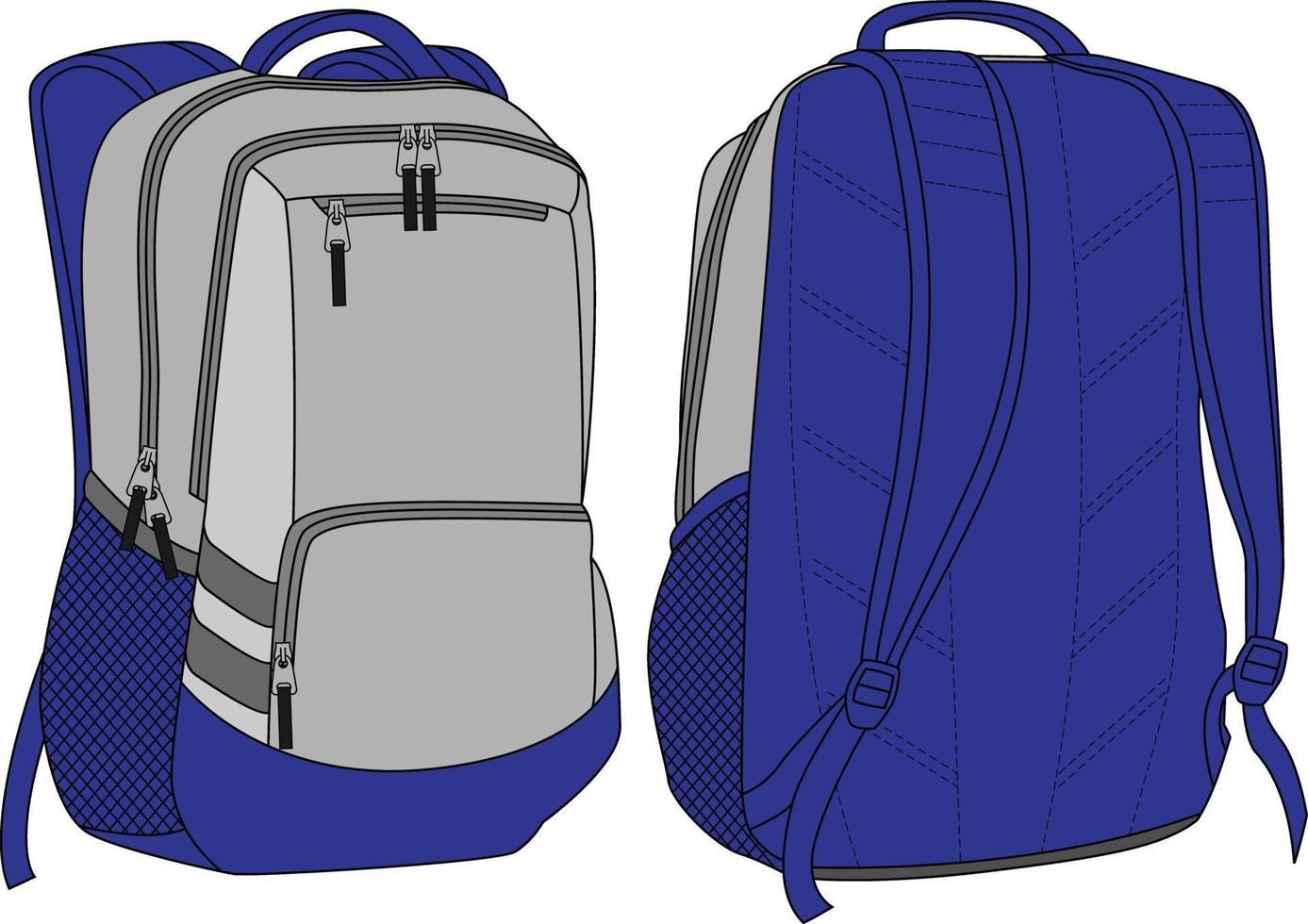 sac à dos maquettes design sublimé vecteur