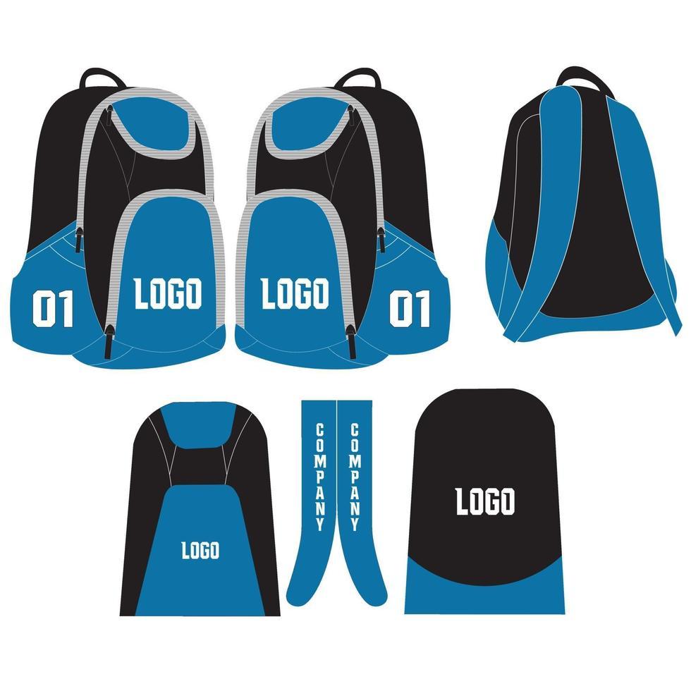 sacs à dos de sport sacs illustrations maquettes vecteur