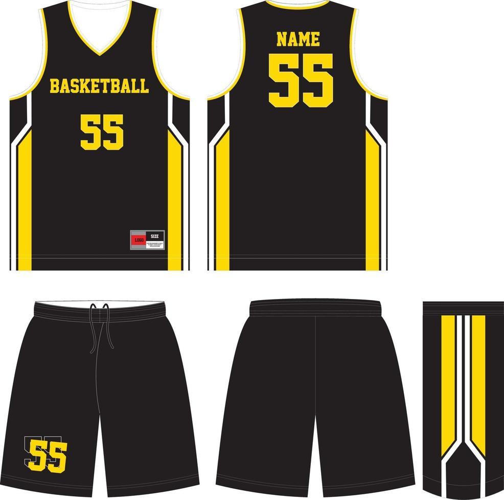 uniformes de basket-ball de conception personnalisée vecteur