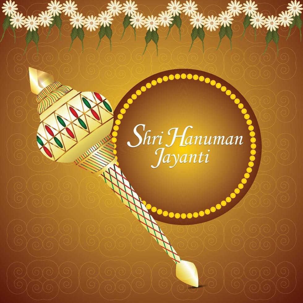 conception de carte de voeux de célébration hanuman jayanti vecteur